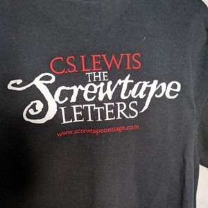 C.S.Lewis The Screwtape Play T-shirt Limited Rare